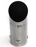 Недорогие -выхлопная труба автомобиля полированная нержавеющая сталь отделка хромированный наконечник продувка бампера