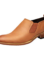 Недорогие -Муж. Комфортная обувь Микроволокно Весна Мокасины и Свитер Черный / Желтый / Хаки