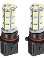 Недорогие -Пара P13W 18SMD 7000K белый светодиодный DRL противотуманные фары лампы для Camaro SS RS