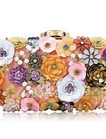 Недорогие -Жен. Мешки синтетика Вечерняя сумочка Цветы Цвет шампанского