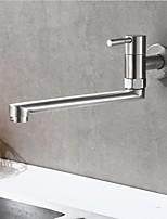 Недорогие -кухонный смеситель - Одной ручкой одно отверстие Нержавеющая сталь Стандартный Носик Современный Kitchen Taps