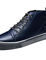 Недорогие -Муж. Комфортная обувь Кожа Весна & осень Кеды Черный / Темно-синий