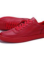 Недорогие -Муж. Комфортная обувь Полиуретан Лето Кеды Белый / Черный / Красный