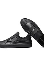 Недорогие -Муж. Комфортная обувь Кожа Осень Кеды Черный