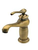 Недорогие -Ванная раковина кран - Широко распространенный Старинный Другое Одной ручкой одно отверстиеBath Taps