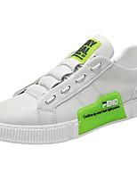 Недорогие -Муж. Комфортная обувь Искусственная кожа Весна Кеды Белый / Черный