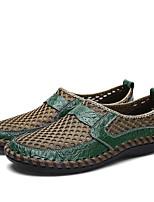 Недорогие -Муж. Комфортная обувь Сетка Весна / Осень На каждый день Мокасины и Свитер Дышащая спортивная обувь Дышащий Черный / Зеленый / Синий