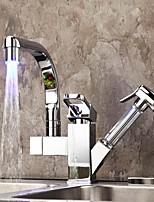 Недорогие -кухонный смеситель - Две ручки одно отверстие Стандартный Носик Другое Современный Kitchen Taps