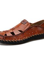 Недорогие -Муж. Кожаные ботинки Кожа Весна На каждый день / Английский Мокасины и Свитер Винный / Темно-русый / Темно-коричневый