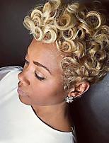 Недорогие -Парики из искусственных волос Свободные волны Фиолетовый Боковая часть / С чёлкой Блондинка Искусственные волосы 6 дюймовый Жен. Новое поступление / Парик в афро-американском стиле Фиолетовый / Омбре