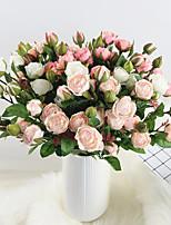 Недорогие -Искусственные Цветы 3 Филиал Классический Стиль европейский Розы Вечные цветы Букеты на стол