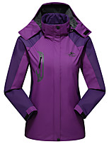 cheap -Women's Girls' Hiking Jacket Hiking Windbreaker Outdoor Waterproof Windproof Quick Dry Detachable Cap Top Purple / Red / Fuchsia / Orange / Green