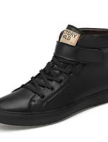 Недорогие -Муж. Комфортная обувь Наппа Leather Весна Кеды Белый / Черный