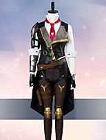 Недорогие -Вдохновлен Overwatch Косплей Аниме Косплэй костюмы Косплей Костюмы Пэчворк Длинный рукав Пальто / Жилетка / Рубашка Назначение Жен.