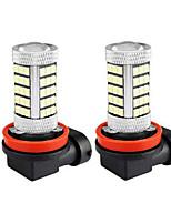 Недорогие -2pcs H11 Автомобиль Лампы 7.5 W SMD 2835 63 Светодиодная лампа Противотуманные фары / Фары дневного света Назначение Универсальный Все модели Все года