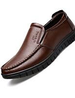 Недорогие -Муж. Комфортная обувь Кожа Наступила зима Мокасины и Свитер Черный / Желтый / Коричневый