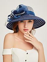 Недорогие -Жен. Активный / Праздник Соломенная шляпа Полоски / Пэчворк