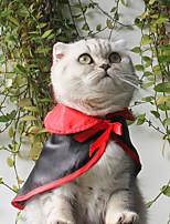 Недорогие -Собаки Коты Костюмы Одежда для собак Однотонный Черный Хлопок Костюм Назначение Мопс шнауцер Пудель Весна & осень Косплей Хэллоуин