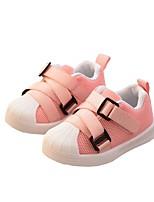 Недорогие -Девочки Обувь Эластичная ткань Весна Удобная обувь Кеды для Дети (1-4 лет) Черный / Серый / Розовый