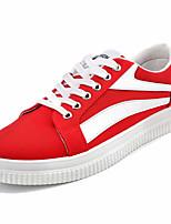 Недорогие -Муж. Комфортная обувь Полотно Весна На каждый день Кеды Дышащий Белый / Черный / Красный