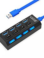 Недорогие -4 USB-концентратор USB 3.0 USB 3.0 Высокая скорость / С коммутатором (а) Центр данных