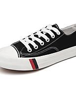 Недорогие -Муж. Комфортная обувь Полотно Весна Кеды Черный / Красный / Светло-синий