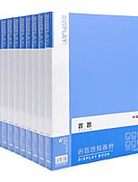 Недорогие -10 pcs M&G ADMN4019 Папки файлов A4 PP Прозрачный Custom Label Влагоотталкивающий