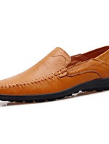 Недорогие -Муж. Комфортная обувь Кожа Весна & осень Мокасины и Свитер Черный / Темно-русый / Темно-коричневый