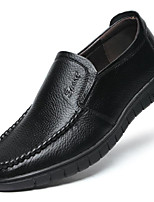 Недорогие -Муж. Комфортная обувь Кожа Весна & осень Мокасины и Свитер Черный / Желтый / Коричневый