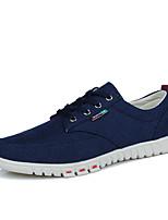 Недорогие -Муж. Комфортная обувь Полотно Лето Кеды Бежевый / Серый / Синий
