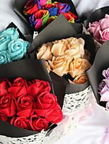 Недорогие -Искусственные Цветы 1 Филиал Классический Modern Пастораль Стиль Розы Букеты на стол