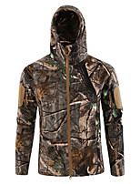 cheap -Men's Hiking Fleece Jacket Winter Outdoor Lightweight Windproof Breathable Quick Dry Jacket Top Fleece Fishing Climbing Camping / Hiking / Caving CP camouflage Black python pattern Big tree