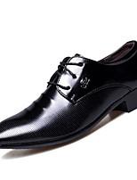 Недорогие -Муж. Комфортная обувь Полиуретан Весна & осень Туфли на шнуровке Черный