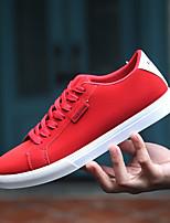 Недорогие -Муж. Комфортная обувь Полиуретан Весна Кеды Черный / Серый / Красный