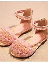 Недорогие -Девочки Обувь Искусственная кожа Лето Удобная обувь Сандалии для Дети Белый / Лиловый / Розовый