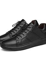 Недорогие -Муж. Комфортная обувь Наппа Leather Весна & осень Кеды Черный