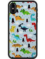 Недорогие -Кейс для Назначение Apple iPhone XR / iPhone XS Max С узором Кейс на заднюю панель 3D в мультяшном стиле Мягкий ТПУ для iPhone XS / iPhone XR / iPhone XS Max