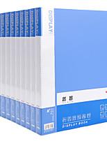Недорогие -10 pcs M&G ADMN4020 Папки файлов A4 PP Прозрачный Custom Label Влагоотталкивающий