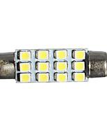 Недорогие -1 шт. Автомобиль Лампы 1 W SMD 3528 20 lm 12 Светодиодная лампа Внутреннее освещение Назначение Универсальный Arnage / Все модели Все года