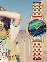 Недорогие -Жен. Наручные часы Кварцевый Нержавеющая сталь Серебристый металл / Розовое золото Новый дизайн Аналоговый Мода - Зеленый Розовый Светло-синий Один год Срок службы батареи / SODA AG4