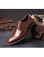 Недорогие -Муж. Комфортная обувь Кожа Весна & осень Туфли на шнуровке Черный / Желтый / Коричневый