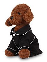 Недорогие -Собаки Пижамы Одежда для собак Однотонный Английский Черный Розовый Хлопок Костюм Назначение Мопс шнауцер Пудель Весна & осень Симпатичные Стиль минималист