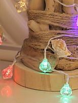 Недорогие -5 метров Гирлянды 40 светодиоды Разные цвета Декоративная 220-240 V 1 комплект