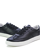 Недорогие -Муж. Комфортная обувь Полиуретан Весна Кеды Белый / Черный