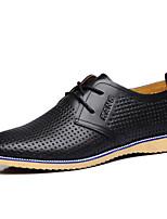 Недорогие -Муж. Комфортная обувь Кожа Весна лето Туфли на шнуровке Черный / Желтый / Коричневый