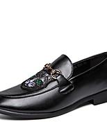 Недорогие -Муж. Комфортная обувь Микроволокно Весна Мокасины и Свитер Черный