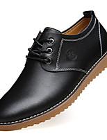 Недорогие -Муж. Кожаные ботинки Кожа Осень Туфли на шнуровке Черный / Коричневый
