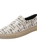 Недорогие -Муж. Комфортная обувь Свиная кожа Весна Мокасины и Свитер Бежевый / Серый