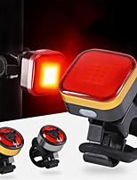 Недорогие -Светодиодная лампа Велосипедные фары Задняя подсветка на велосипед Горные велосипеды Велоспорт Водонепроницаемый Портативные Прочный Литий-ионная аккумуляторная батарея 120 lm Оранжевый