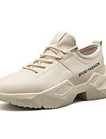 Недорогие -Муж. Комфортная обувь Искусственная кожа Наступила зима На каждый день Кеды Белый / Черный / Бежевый